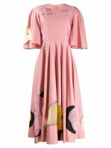 Roksanda flared midi dress - PINK