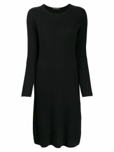 Iris Von Arnim round neck dress - Black