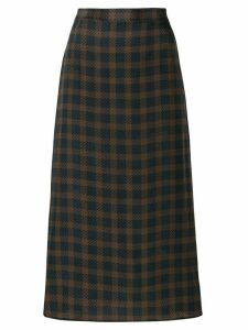 Rokh check pencil skirt - Black