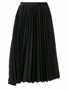 Sacai asymmetric pleat midi skirt - Black