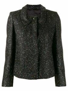 Emporio Armani glitter fitted jacket - Black
