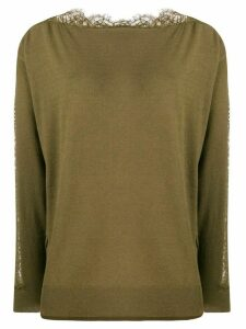 Twin-Set lace detail jumper - Green