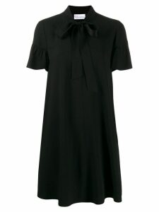 Red Valentino pussybow tie neckline dress - Black