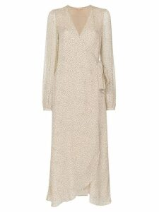 byTiMo wrap polka-dot midi dress - Neutrals