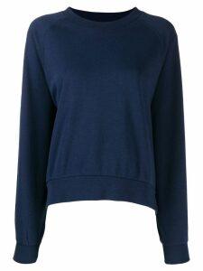 Closed round neck sweatshirt - Blue