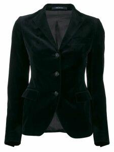 Tagliatore classic velvet blazer - Blue