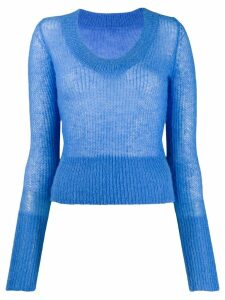 Jacquemus La maille Dao U-neck knitter sweater - Blue