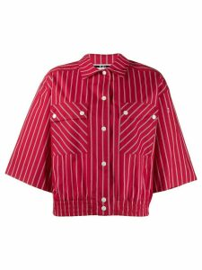 McQ Alexander McQueen cropped striped shirt - Red