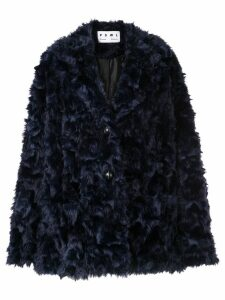 Proenza Schouler PSWL Faux Shearling Long Coat - Blue