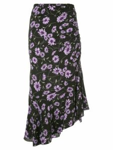 Michael Kors floral print midi skirt - Black