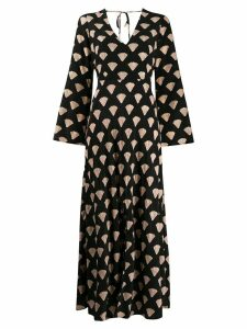 Rixo shell print Nora dress - Black