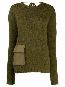 Rochas pocket detail jumper - Green