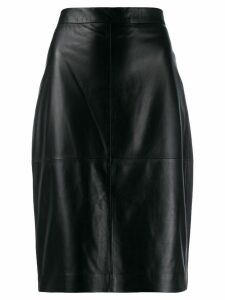 Federica Tosi high waisted leather skirt - Black