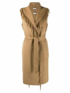 P.A.R.O.S.H. fringed waistcoat - Brown