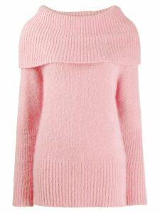 Emporio Armani maxi-knit wool jumper - Pink