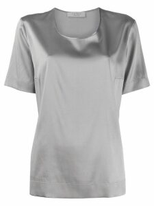 D.Exterior short-sleeved blouse - Grey