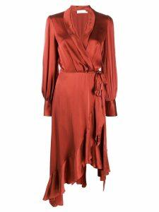 Zimmermann asymmetric wrap dress - Red