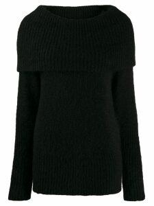Emporio Armani maxi-knit wool jumper - Black