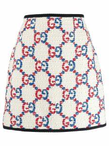 Gucci GG tweed mini skirt - White