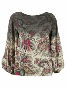 Etro Degrade paisley-print blouse - Grey
