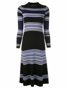 Proenza Schouler Striped Rib Maxi Dress - Black