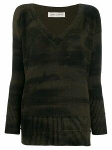 Lamberto Losani tie-dye jumper - Green