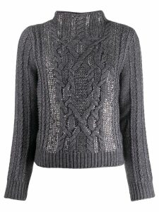 Ermanno Scervino stand-up collar jumper - Grey
