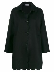 Red Valentino RED(V) oversized coat - Black