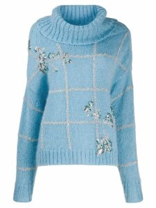 Delpozo roll neck jumper - Blue