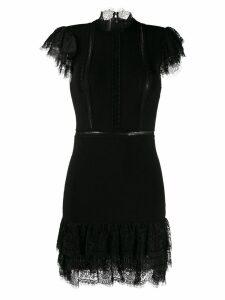 Alice+Olivia mini dress with lace trim - Black