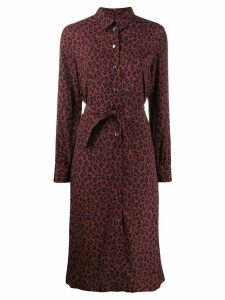 A.P.C. leopard print dress - Red