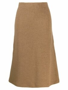 Jil Sander towelling skirt - NEUTRALS