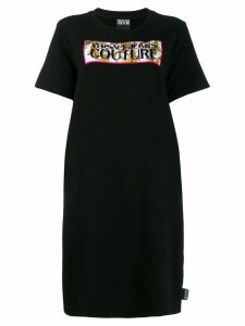 Versace Jeans Couture logo T-shirt dress - Black