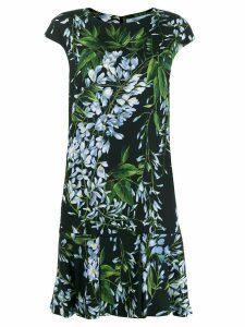 Blumarine floral flared midi dress - Black