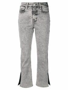 Proenza Schouler PSWL Colorblock Split Denim Jeans - Black