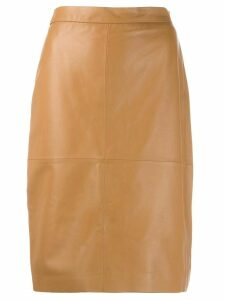 Federica Tosi high waisted leather skirt - Neutrals