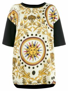 Fausto Puglisi contrasting sleeve printed T-shirt - Neutrals