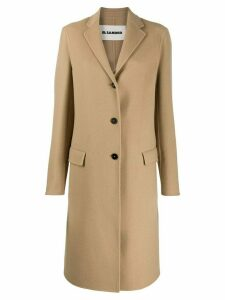 Jil Sander cashmere single-breasted coat - Neutrals