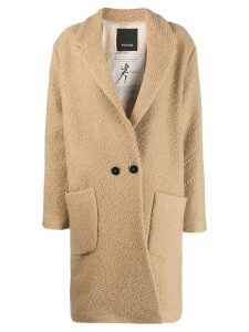 Pinko oversized single-breasted coat - Brown