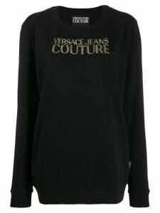 Versace Jeans Couture long logo jumper - Black