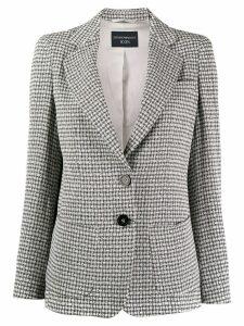 Emporio Armani classic micro-check blazer - Grey