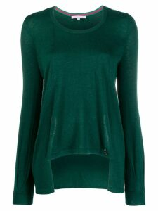 Patrizia Pepe asymmetric relaxed-fit pullover - Green