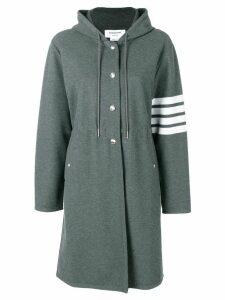 Thom Browne 4-bar tech piqué sport parka coat - Grey