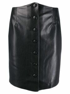 Nanushka short fitted skirt - Black