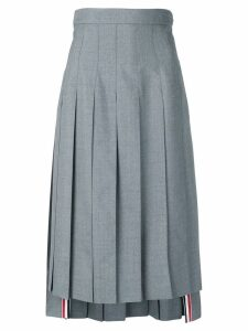 Thom Browne high-waist pleated skirt - Grey