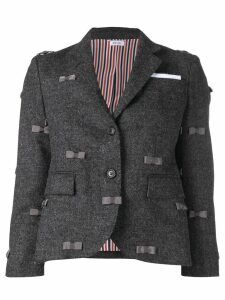 Thom Browne Bow Embroidered Sport Coat - Grey