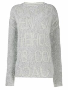 Jacob Cohen logo intarsia jumper - Grey
