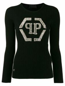 Philipp Plein crystal-embellished jumper - Black