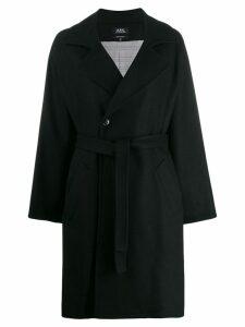 A.P.C. belted coat - Black