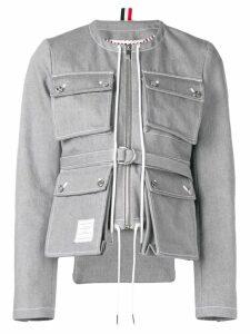 Thom Browne Hunting Cardigan Jacket - Grey